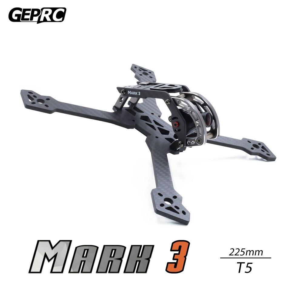 Estrutura de Fibra de Carbono para o Freeestilo Geprc Milímetros Fpv rc Drone Mark3 t5 225