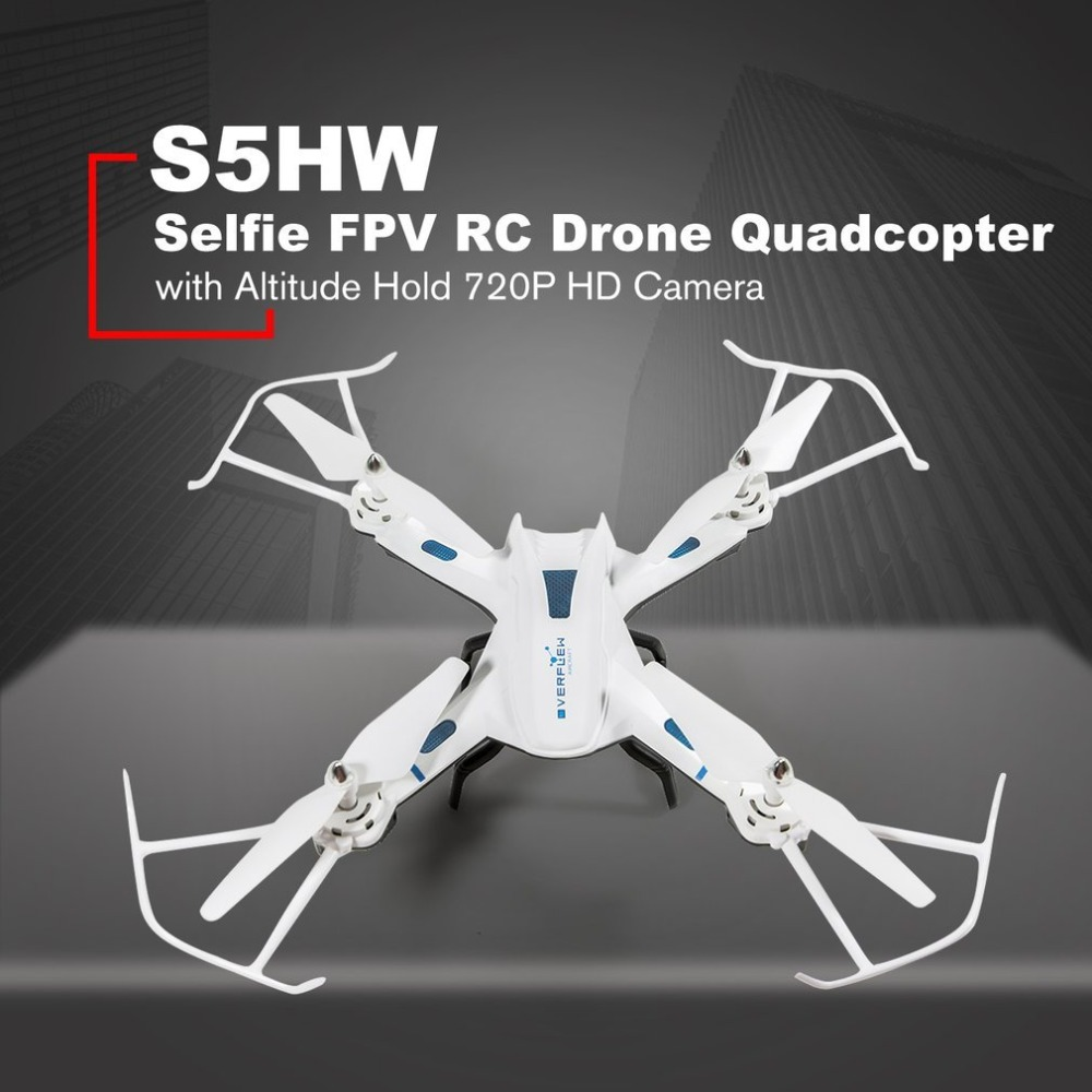 S5HW Smart Selfie RC Quadcopter Drone Aircraft UAV with Wifi FPV 720P HD Real-time Camera Altitude Hold 3D FlipsS5HW Smart Selfie RC Quadcopter Drone Aircraft UAV with Wifi FPV 720P HD Real-time Camera Altitude Hold 3D Flips