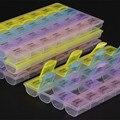 2 Unids caja De La Joyería Píldora 7 Días Vitamina Píldora Cuadro Titular De Almacenamiento Organizador Contenedor Caso Medicina Semanal Organizador de Viajes 28 células