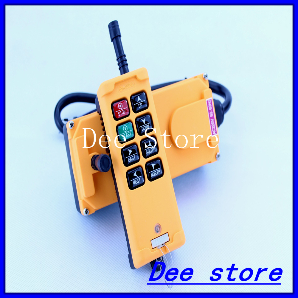 1 Transmitter 6 Channels 1 Speed Truck Hoist Crane Radio Remote Control Push Button Switch System Controller niorfnio portable 0 6w fm transmitter mp3 broadcast radio transmitter for car meeting tour guide y4409b