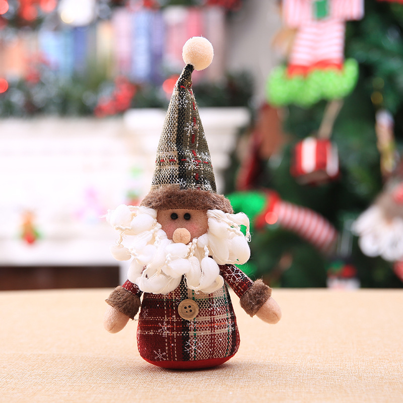 2019 Merry Christmas Tree Ornaments Christmas Decorations for Home New Year gift Children Snowflake Elk Plaid Doll Hanging Natal (3)