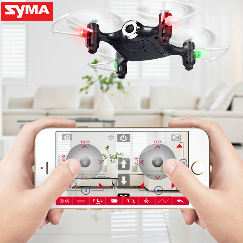 SYMA X21W Selfie Mini Drone with Wi-fi Camera hd 720P FPV Dron RC Quadcopter 2.4GHz 4CH RC Helicopter Drones For Children Gifts syma x21w mini drone with hd camera wifi fpv helicopter 2 4ghz 4ch 4aixs gyro altitude hold mode rc quadcopter mini drone