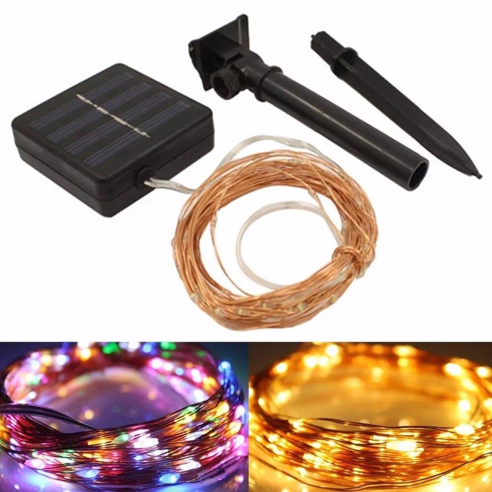 22M 200 LED Solar Strip Light Home Garden Copper Wire Light String Fairy For Halloween Christmas Party Home Decor