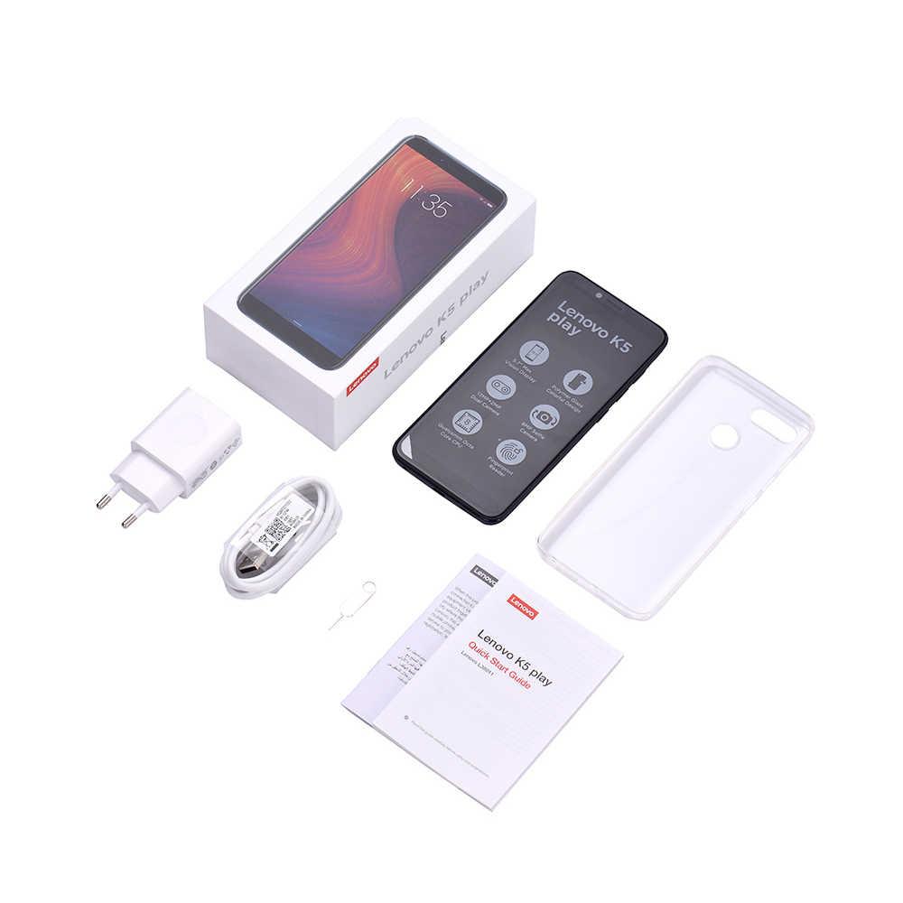 Мобильный телефон Lenovo 3GB 32GB K5 Play Face ID 4G смартфон 5,7 дюймов Snapdragon Восьмиядерный тыловая камера 13MP 2MP мобильный телефон