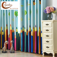 Shade Cloth Printed Curtains And Kids Room Curtains Finished The Pencils For Boys And Girls Curtains