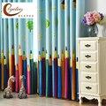 [Byetee] плотные кухонные шторы с принтом  шторы для детской комнаты для детей  гостиной  для мальчиков и девочек  занавески для спальни