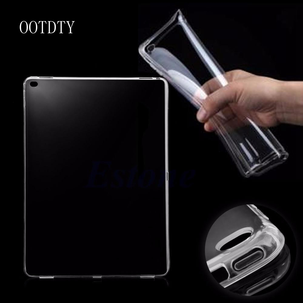 OOTDTY Ultra Thin Soft Crystal Clear Transparent Shell Tablet accessories Gel Skin TPU Case Cover For iPad Pro Tablet 12.9