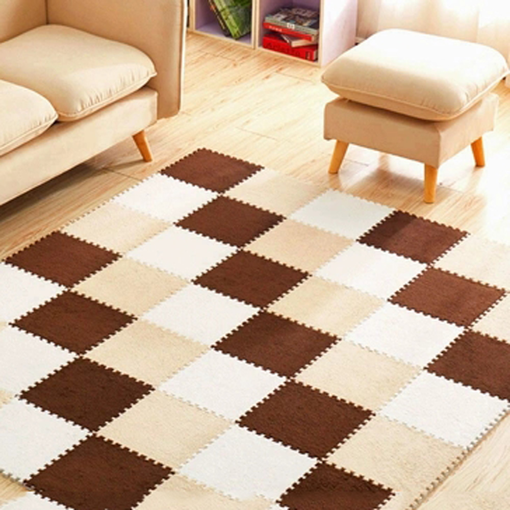 10 Pcs/lot Plush Puzzles Baby Playmats Puzzle Mat Infant Carpet Eva Foam Kids Rug Baby Playing Mat Rug Puzzle Children's Mat