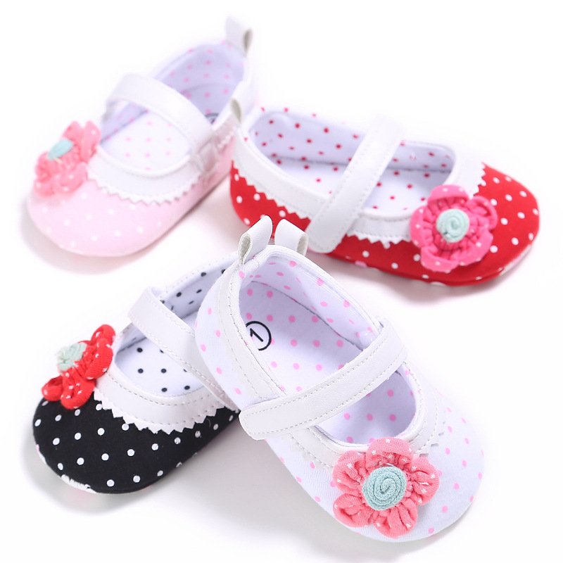 0-1 Year Old Female Baby Little Flower Princess Shoes Baby Toddler Shoes
