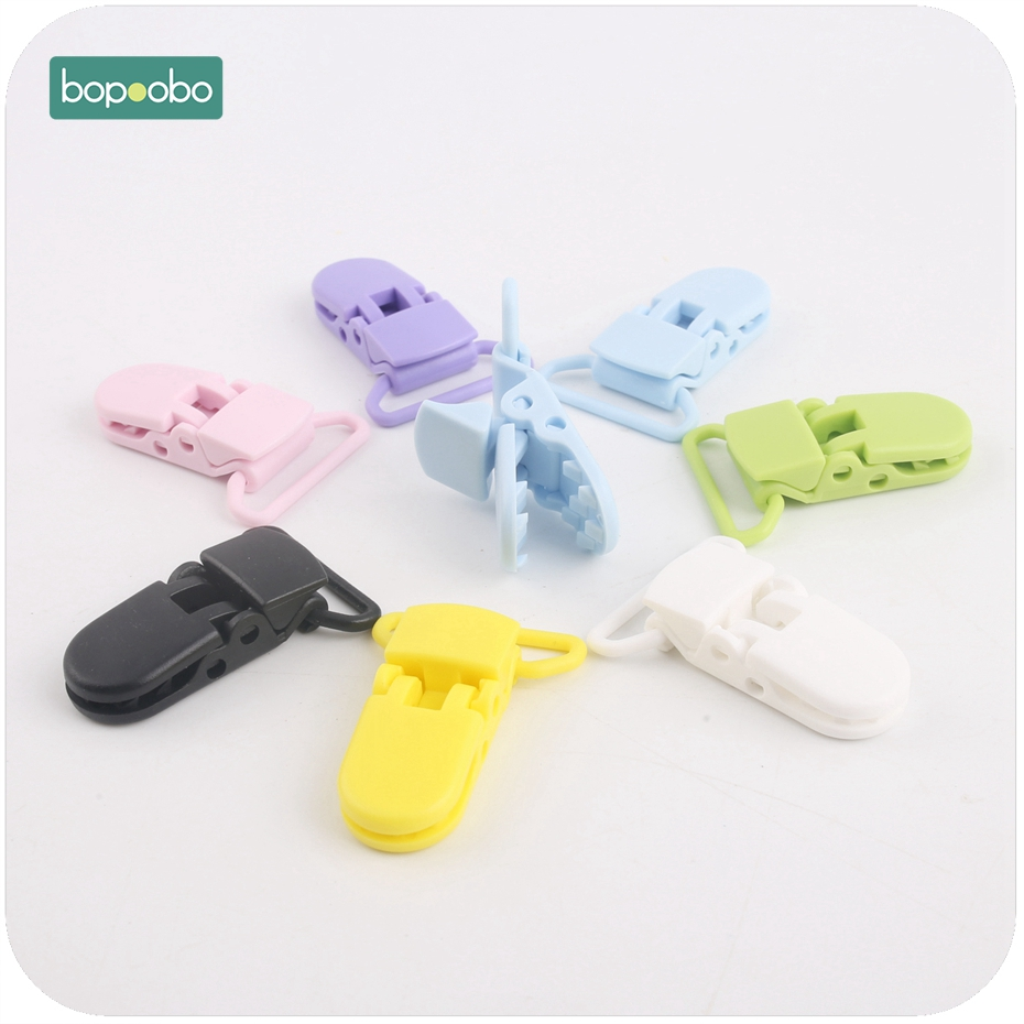 Bopoobo Baby Accessories Pacifier Clips 10pcs Colorful Plastic Bib Holder Clips Baby Gift DIY Material Unisex Trendy Pacifier