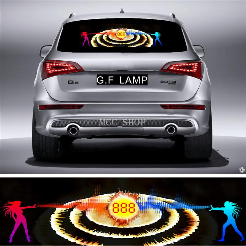 90*25cm Sound Rhythm Activated El Equalizer Car Music Sticker Glow Flash Panel Multi Designs Blast