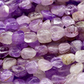 "Discount Wholesale Natural Genuine Purple Lavender Amethyst Nugget Loose Beads Free Form Beads 3-12mm Fit Jewelry 15"" 03897"
