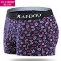PLANDOO Men Underwear 100% Cotton Cuecas Box 4 Pieces Lot Gay Pants Underwear Man Sexy Freegun Plus Size