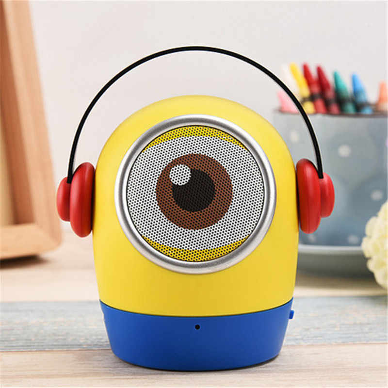 Children Minions Mini Bluetooth Speaker for Mobile Portable Wireless Speaker Hands-free MP3 Player MIC TF USB Toy Speaker