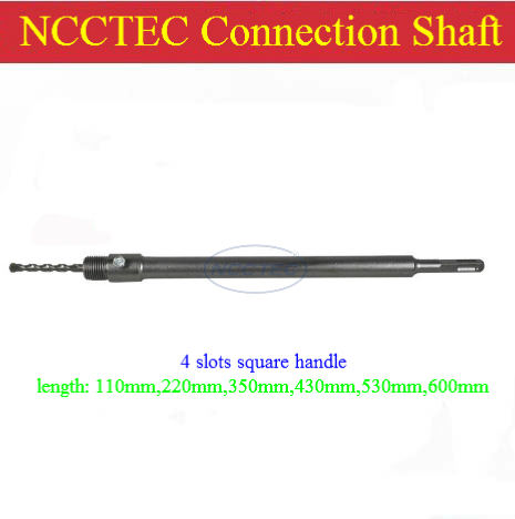 ФОТО [4 slots square handle] 600mm 24'' length connection pole NCP6004S for wall core drill bits | FREE shipping with FREE gift