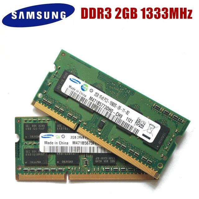 SAMSUNG SEC 2G PC3-10600S DDR3 1333 Mhz 2 gb Máy Tính Xách Tay Bộ Nhớ 2G pc3 10600 S 1333 MHZ Máy Tính Xách Tay mô-đun SODIMM RAM