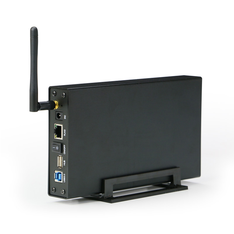 Disque dur externe DISQUE DUR Nas Wifi Antenne Sans Fil wifi Sata USB 3.0 wifi HDD Interface de DISQUE DUR En Aluminium Boîte 3.5 caddy-en HD