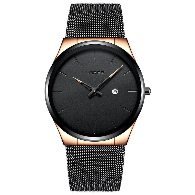 LOREO 1110 allemagne montres hommes de luxe marque Bauhaus montre à quartz décontractée hommes sport montres montre-bracelet militaire Relogio Masculino