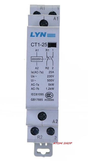 CT 2P 25A NO / NC AC220V  Home AC contactor often open   CT1-25 25A LYN brand