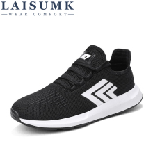 2019 LAISUMK Comfortable Male Shoes High Quality Casual For Men Spring Autumn Breathable Sneaker