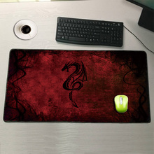 Red Dragon 600x300/700x300/800x300/900x400mm  Locking Edge Mouse Pad Large Size Computer Keyboard Mat Table Gaming Mousepad