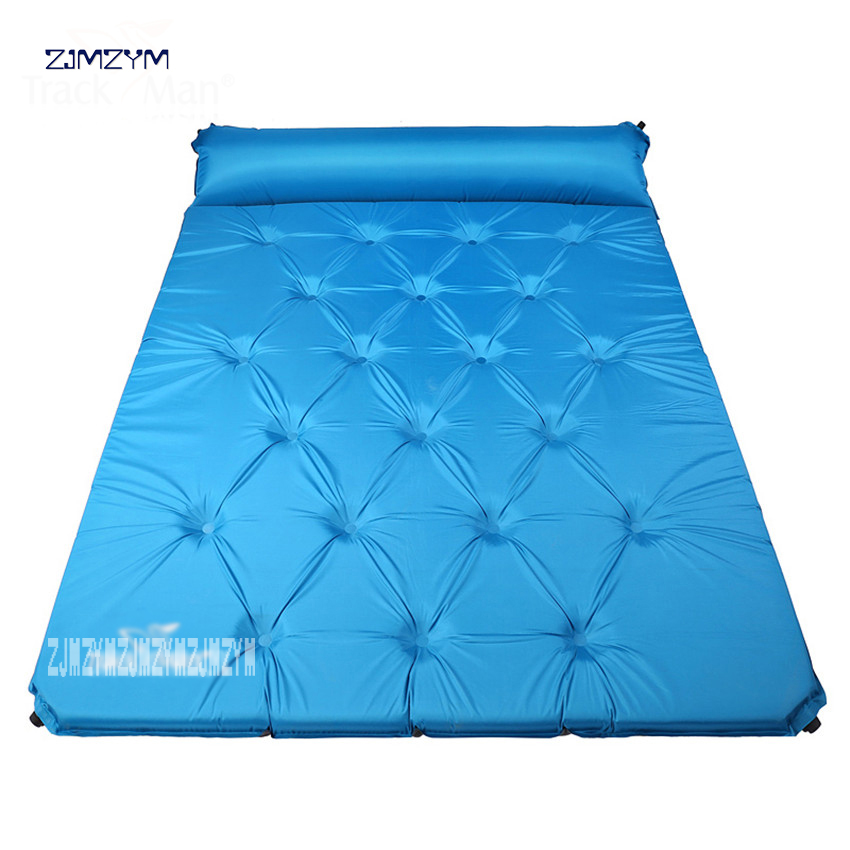 2 person automatic inflatable mattress self inflating hiking travel fishing beach cushion BBQ mat outdoor camping pad ArmyGreen все цены