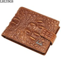 Fashion Brand Designer Genuine Leather Crocodile Head Pattern Male Wallets Purse Men S Business Luxury Credit