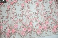 3D lace fabric lace African The beaded fabric is veiled Laces Fabric Bridal High Quality French Tulle Lace