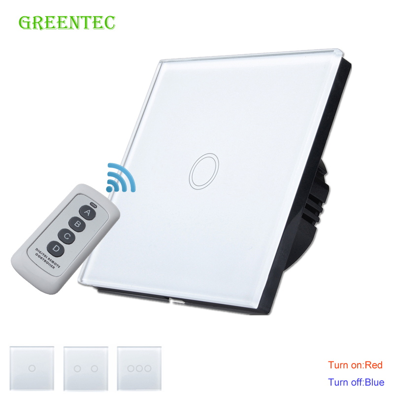 Wall Switch Touch Switch 1 Gang 2Gang 3Gang One Way Touch Screen Wall Light Switch 110