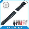 14mm 16mm 18mm 20mm 22mm 24mm Faixa De Relógio de Couro Genuíno para Hamilton Strap Pulseira de Pulso Pulseira Cinto Marrom Preto Vermelho branco