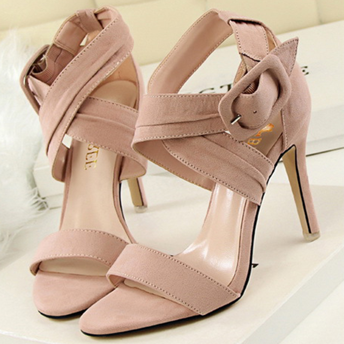 2017 Sexy Women Pumps Open Toe Lace Up High Heels Sandals Woman Ankle Cross Strappy Summer Roman Shoes black red brown sexy open toe women sandals gladiator lace up high heel sandal boots stiletto heels strappy pumps summer shoes woman size 34 45
