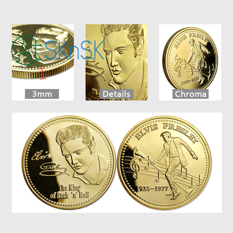 Collectible Medallion US Fast Shipping. Gold Plated 24K 1oz Bitcoin Coin