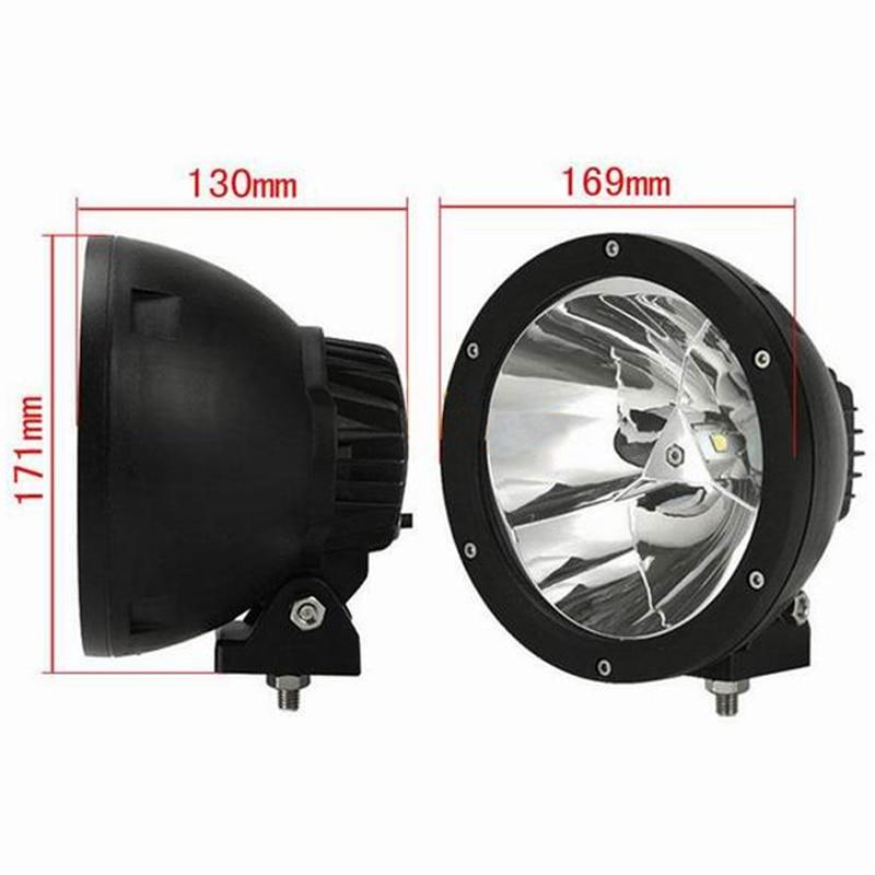 "Image 2 - XuanBa 2Pcs 7"" inch 45W Round Led Work Light Spot Beam 12V 4x4 Off road Boat Truck SUV ATV Headlight Driving Lights 24V Fog Lamp-in Light Bar/Work Light from Automobiles & Motorcycles"