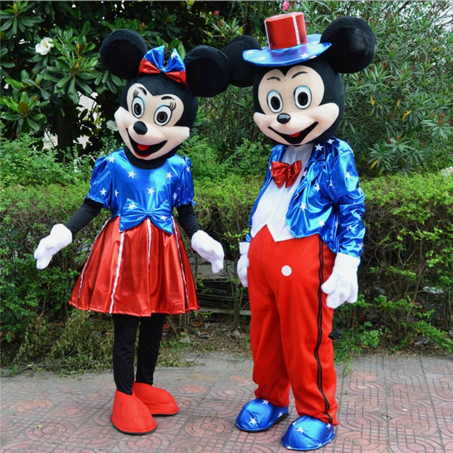 Halloween Mickey And Minnie Couple New Mouse Mascot Costume Adult