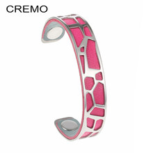 Cremo Giraffe Bangles Bracelets Women Animal Love Stainless Steel Bracelet Argent Delicat Cuff Bangle Manchette Femme Pulseiras(China)