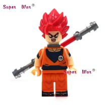 1PCS Super Saiyan God Dragon Ball Kakarotto Goku building blocks action model bricks Baby toys for children(China)