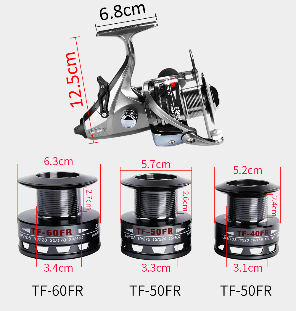 New Design Double Speed 6.314.31 LeftRight Exchangeable Spin Fishing Reel 12+1 S.S Bearings Spinning Reel With 2 Spools Coil  (3)