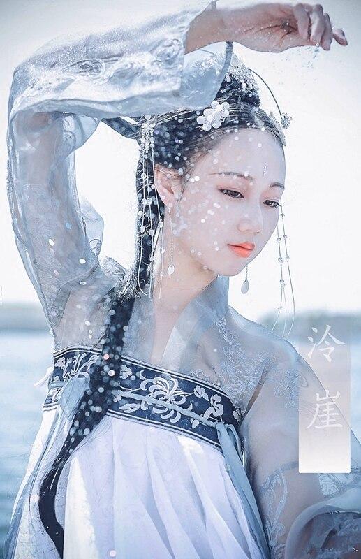 Платье в стиле династии Хань женское платье ежедневно древнее двубортное платье Улучшение свежий и элегантный китайский ветер летнее древ