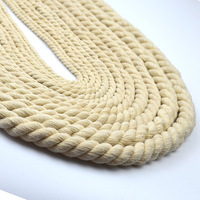 Beige Cotton Rope 4mm 12mm 3 Shares Twisted Thick Cords for home Textile Craft DIY Handmade Decorative Accessories Cord
