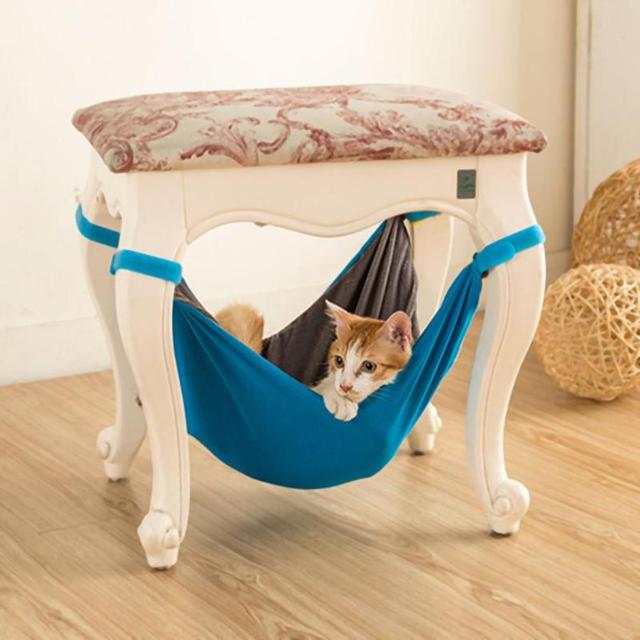 Pet Cat Hammock Chair Cage Hanging Bed Rabbit Bed House Puppy Cushion Small  Dog Rabbit Bed