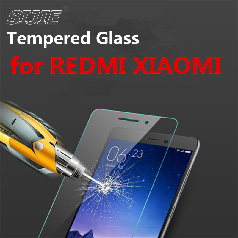 SIJIE Tempered Glass For REDMi 3 3S 3X 3PRO 4 4A 4PRO NOTE 2 3 PRO SE XIAOMI 3 4 4C 4S 5S Screen protect for RED MI XIAO MI4 MI5