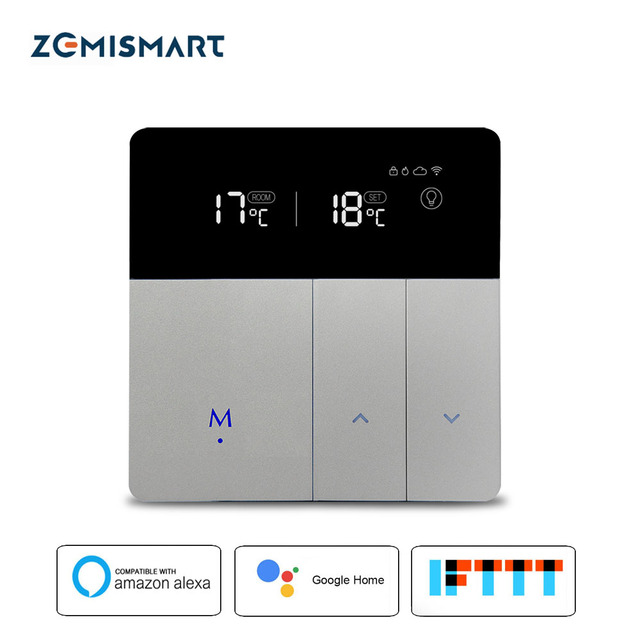Elektrische Vloerverwarming Thermostaat Werk met Alexa Google Thuis Smart WIFI Controle externe Temperatuur Controller 20A 200-240 V