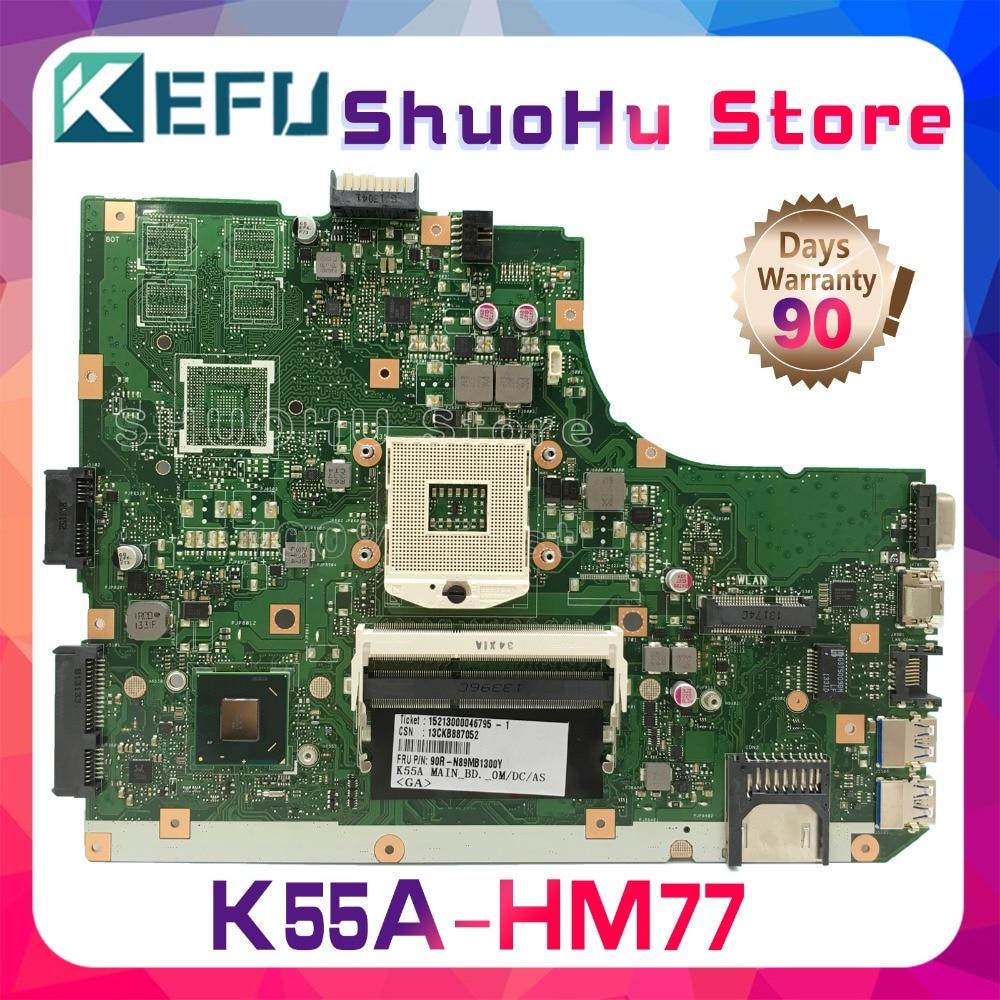 KEFU For ASUS K55VD A55V R500V K55V A55VD REV.3.0/3.1 laptop motherboard tested 100% work original mainboard k55vd laptop motherboard for asus 8pcs video card rev3 0 k55vd mainboard full tested