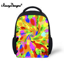Noisydesigns 3D Hand-painted Aurora Print Back Packs 12 inch School Bags for girls boys for Kindergarten Book Bag Beautiful(China)