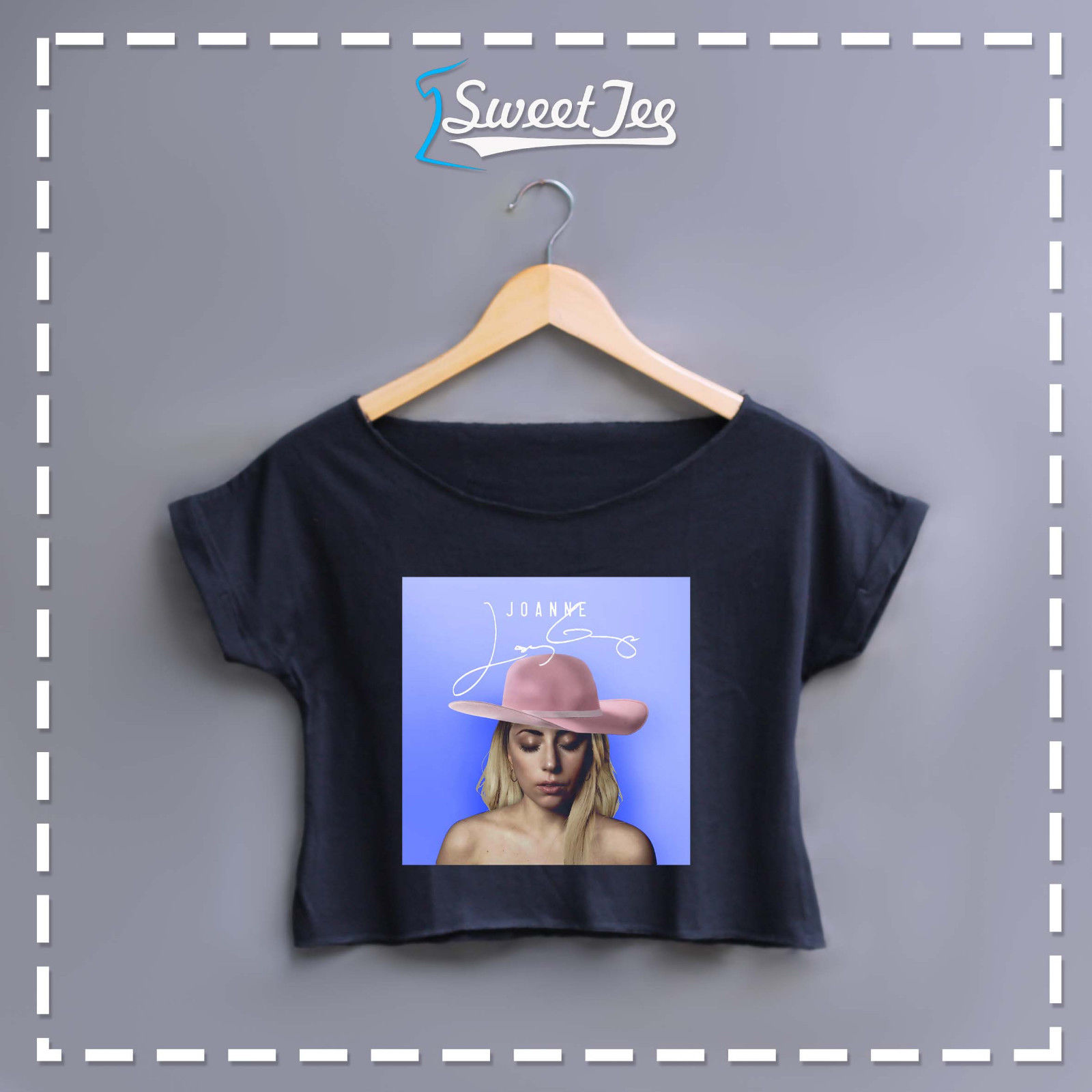 New LADY GAGA / JOANNE Womens Shirt Crop Top Tee Cotton 2colors