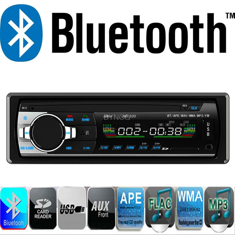 Autoradio BYNCG Car Radio 12V Bluetooth V2.0 Car Audio Stereo 1 Din FM Aux Input Receiver SD USB MP3 MMC WMA Car Radio Player