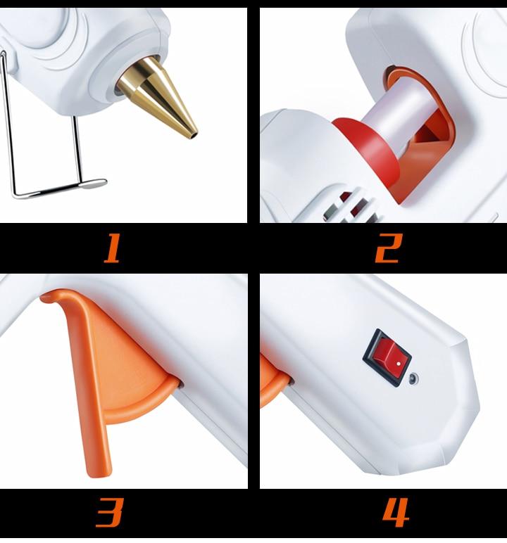 30 Вт/40 Вт/80 Вт/100 Вт Профессиональный высокотемпературный термоклеевой пистолет ремонтный термопистолет пневматический DIY инструменты Горячий клеевой пистолет