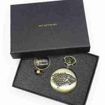 Retro Antique Pocket Watch Game of Thrones House Strak Men Women Fob Watch
