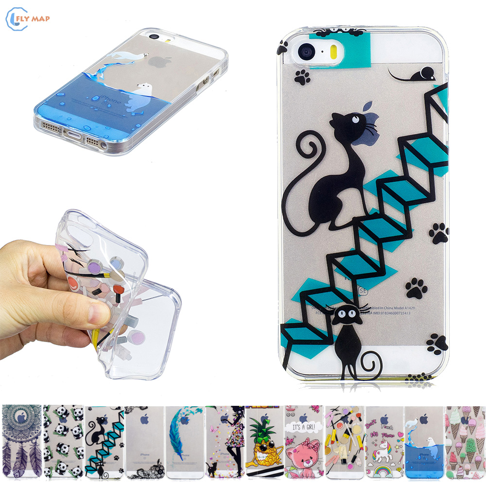 Fitted Case for Apple iPhone 5S 5 S / i Phone5 Phone5S iPhone5 iPhone5S TPU Frame Phone Soft Silicone Case for iPhone SE S E bag