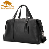 New Genuine Leather Men's Travel Bag Luggage & Travel Bag Men Carry On Leather Duffel Bag Weekend Bag Big Tote Handbag black